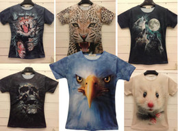 Wholesale 2014 Man Women Fashion D Short Sleeves T Shirts Kinds Of Style D Cool Men T shirts Printing Size S XL