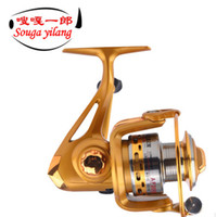 Saltwater 4000 Series As Shown In The Picture Hot Sale High Quality Gold Color Spinning Fishing Reels 4000 Metal Bearing Fishing Vessel Sea Rod Tackle Reels