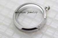Lockets glass lockets - 10pcs magnetic closure L stainless steel color mm plain memory glass locket pendant no floating charms