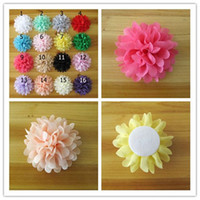 Wholesale 60pcs Chiffon Flower For Infant Headbands Hair Clips Girls Corsage Flower Hair Accessories Multicolor Chiffon Flowers DIY Photography props