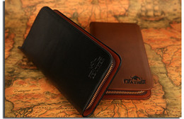 Mens Wallet Leather Long Purse Zip Billfold Clutch