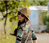 Wholesale 2014 The latest version of the hand woven straw hat ladies bohemian summer beach hat
