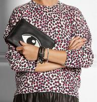 Totes Unisex big eye  picture 2013 new 1pcs Portable envelope bag A4 Women designer handbags clutch bag fashion shoulder bag with big eyes picture red black blue green