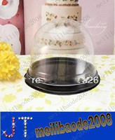 Wholesale Clear Plastic Cupcake Cake Dome Favor Boxes Container Gift Wedding Party Shower MYY114