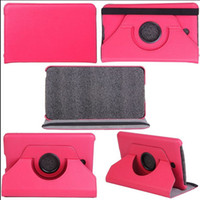 Wholesale lichee skin rotary rotating stand folio leather case cover skin shell for Dell Venue Android Tablet folio case