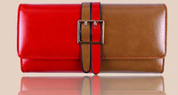 Ladies Wallet PU Leather Womens Long Belt Purse