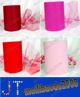Backdrops tulle roll - Red Pink TULLE Roll Spool quot x100 Yard Tutu Wedding Gift Bow Bridal Girl Skirt Craft Party DIY Hot MYY119