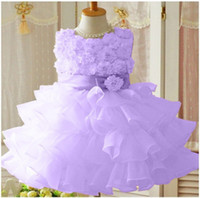 3olors children's dress girls Flower dress style stack- up pr...