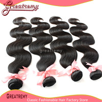 Peruvian Human Hair Weave Virgin Hair Extensions Body Wav 8&...