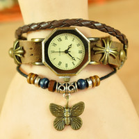 Wholesale 2014 watch men women fashion dress watches with butterfly women s luxury brand bracelet wristwatches W1555