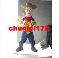 Custom Made adult woody costume - Woody Mascot Costume Happy Cowboy Halloween Party Adult Size Cartoon Fancy Dress
