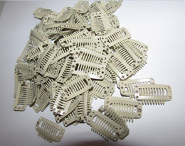 super quality 20pieces lot Beige color 9-teeth Large Hair Clips Wigs Clip hair extension clips hair clips