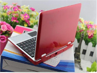 Wholesale DHL FREE Cheap laptop Android4 Windows CE webcam M G wifi inch VIA mini netbook laptop DHL