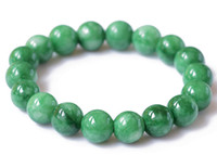 Wholesale Top quality send with certificate mm Natural round green jade bracelet women s bead chain classic ornaments GJ2