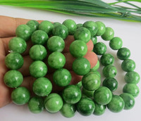 Beaded, Strands South American Women's 100% Chinese jade jewelry bracelets natural 10MM-16mm jade Beads Handmade bracelet natural Gem bracelet GJ2