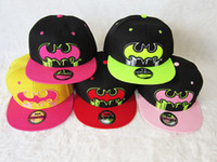Ball Cap Red Cotton Free shipping Batman Snapback Cap Snapback Hats adult's most popular cartoon caps accept wholesale