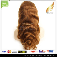 #8 swiss lace wig - Queen Hair Products Virgin Brazilian Hair Body Wave Remy Human Hair Swiss Lace Front Lace Wig quot quot Glueless Medium Cap Brown Bellahair