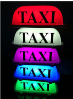 taxi - Taxi Top Light New LED Roof Taxi Sign V with Magnetic Base green red blue pink white optional