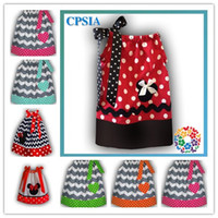 TuTu Summer A-Line DHL free shipping Petti Chevron Minnie Mouse Pillowcase dress For girls Cotton Pillow case dress 3sizes 0-6 T Many colors-24pcs lot 08