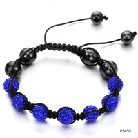 Wholesale Trade jewelry jewelry new Korean ladies bracelet blue diamond weave N455