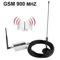 Wholesale 1SET Freeshipping GSM900 with LCD display square meter work GSM Mhz mobile phone signal booster and repeater