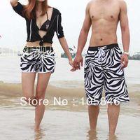 Women Bikinis Print swimwear Hot! 2014 Summer Lovers Design Cloths Womens and Mens Ze Print Beach Pants Casual Board Shorts L,XL,XXL M0061E,Free Shipping
