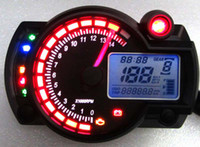 Wholesale New Backlight LCD Digital Motorcycle Speedometer Odometer Bike Tachometer