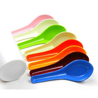 disposable spoon - Multi Color Melamine Kitchen Spoon Disposable Scoops Household Supplies SH481