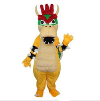Wholesale New arrival EMS SUPER MARIO BOWSER KOOPA Mascot Costumes Halloween Fancy Dress Outfit Suit Adult Size