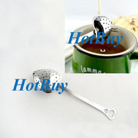 Wholesale Heart Shaped Tea Herb Leaves Infuser Strainer Filter Spoon Wedding Party Gift Favor New