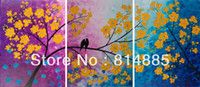 Wholesale Thick Textured Handmade Oil Painting Romantic painting birds on tree branch quot Songs of Birds and Scent of Flowers quot JYJHS098