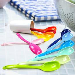 Lovely Color Ice Cream Spoons Non-toxic Melamine Scoops MINI Dinnerware 10pcs lot SH485