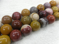 Wholesale 12mm Natural Mookaite Stone Round Beads GemStone Loose Beads for DIY Jewelry Necklace Bracelets Making