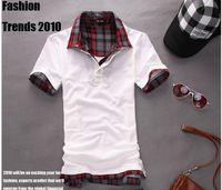 Men Polo Tops FREE SHIPPING,2014 New Men Short Sleeve casual Polo shirt for man gray black white pink (M L XL XXL) W190