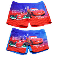 Boy Swim Trunks 12-18 Months Kids Boy Car Children Swimming Trunks Flat Foot Bathing Trunks Boy Swimming Shorts Cartoon Car Red Swimming Shorts FREESHIPPING