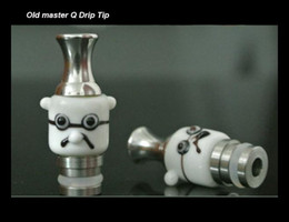 Old master Q Style Drip Tip Stainless Steel Drip Tips with Glass drip tip EGO 510 Atomizer Mouthpieces Fit Kanger Protank tank Clearomizer