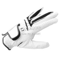 Wholesale New Arrival White M L Mens Leather Golf Glove Left Hand Drop Shipping TK0803