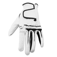 Wholesale New L White Left Hand Men s Golf Glove Synthetic Leather CabrettaLeather Drop Shipping TK0804