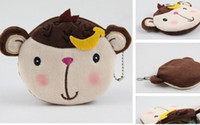 Coin Purses PHOTO PHOTO 10PCS Kawaii Banana Monkey Plush Coin Purse & Wallet Pouch Case BAG Pendant Bags Pouch Beauty Cosmetics Case Holder BAG Handbag
