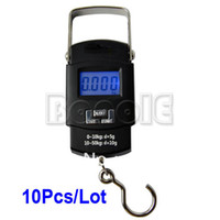 Pocket Scale <50g 8830# 10pcs Lot Wholesale New 50kg 10g LCD Display Digital Portable Electronic Travel Luggage Fishing Weight Hook Hanging Scale 8830