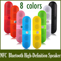 2.1 Universal HiFi 2014 hot selling Pill Wireless Speaker Portable NFC Bluetooth High-Definition Lightweight Sound-box pill speaker wireless DHL 5pcs BS-10