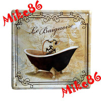 Cheap [ Mike86 ] Bathroom Bath Crock Wall art House Hotel PUB Retro Metal Tin Sign Decor J-70 Mix Items 21*21 CM