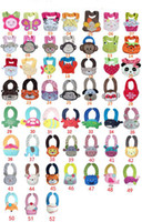 Wholesale D Cartoon Towel Baby Bibs layer waterproof baby Feeding Animal Button bibs colors feedings
