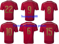 Wholesale Thai Quality Customized Soccer Jerseys Home Red Jersey Football Jerseys Soccer Jersey Top Soccer Shirts