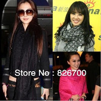 Wholesale fashion classic cotton pashmina letter hmong scarf shawl latest women silk foulard scarf cm R0028
