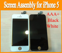 For Apple iPhone   AAA+ Black white Replacement Original lcd for iPhone 5 i phone 5 iphone5 LCD display screen Assembly with touch digitizer frame