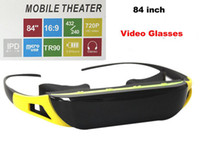 Wholesale New inch HD Virtual Video Glasses Micro Heads up Display SD Card Movie Player