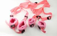 Wholesale Under the Bed Mattress Restraint System Unisex Hand Wrist Foot Ankle Restrict Belt Bedroom Sex Toy for Couples Pink Soft Bedroom Belt Tie Up