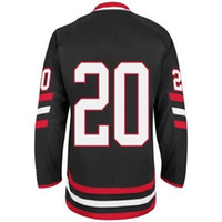Blackhawks #20 Brandon Saad Black 2014 Stadium Series Hockey...