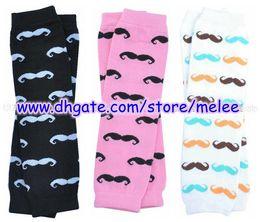 Wholesale Hot Sale Newest Children Mustache Leg Warmers Baby Beard Leg Warmers Leggings Infant LegWarmers Big Discount pc pair M T Melee